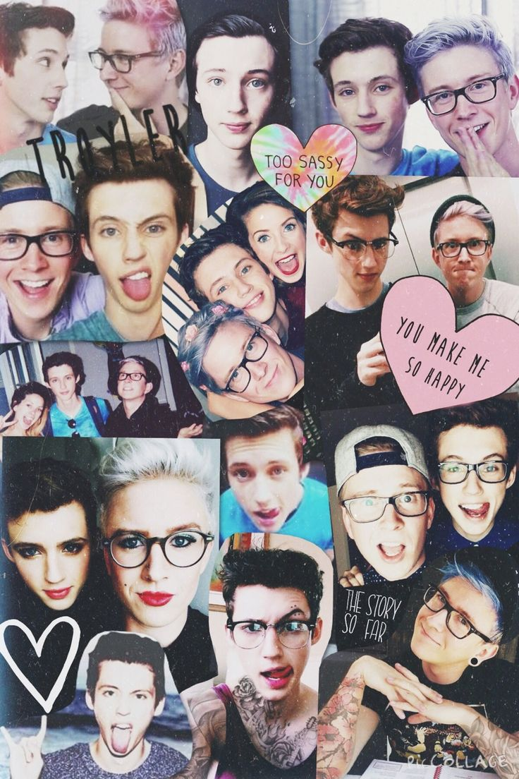 Troye x Tyler #Troyler collage wallpaper | YouTubers ...