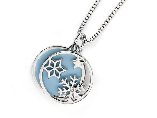 D for Diamond Silver Pendant - Frosty Day