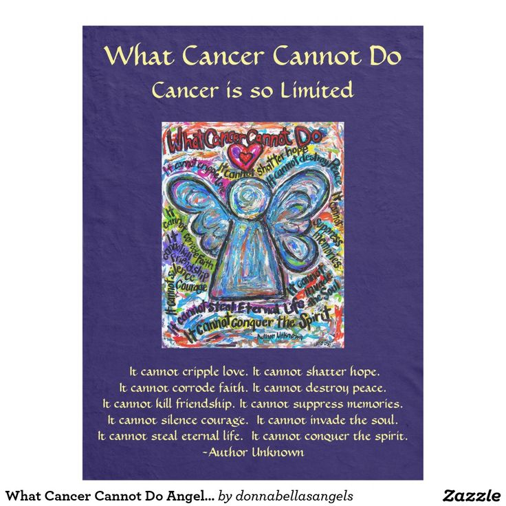 Poem art fleece blanket cancer blankets forward what cancer cannot do