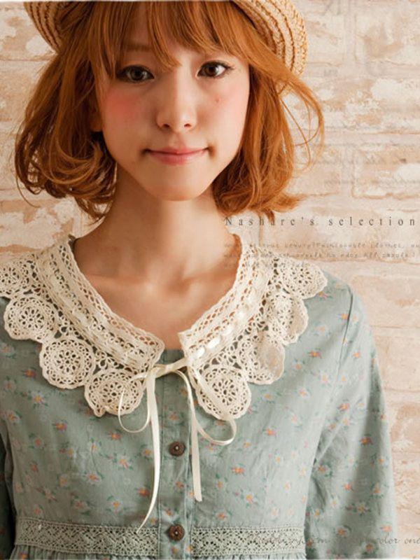 Japanese forest girl crocheted collar