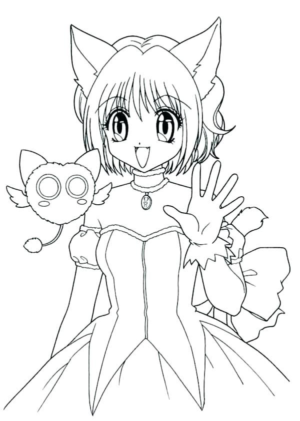 Free Anime Coloring Pages Anime Wolf Girl Coloring Pages Page Free