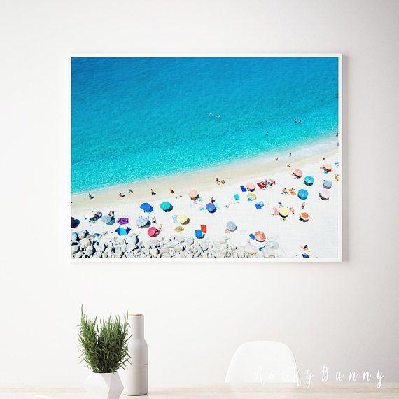 Beach wall art print printable beach poster ocean digital