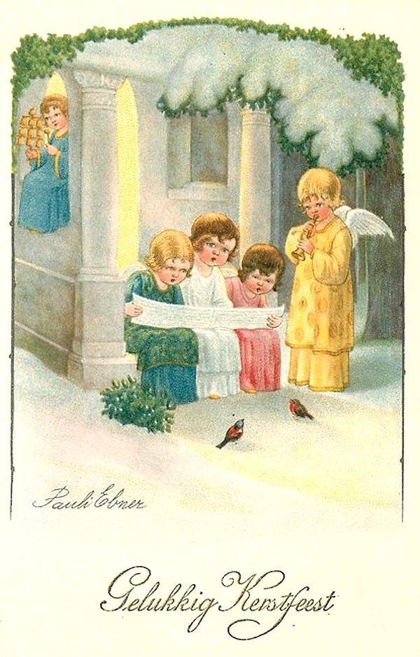 Pauli Ebner (1873-1949) — Old Christmas Post Cards  (600x938):