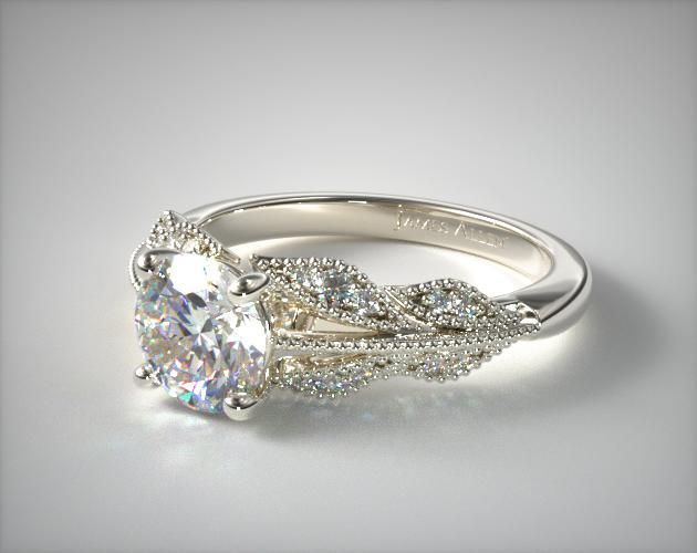 14K White Gold Vintage Inspired Floral Bouquet, love this ring