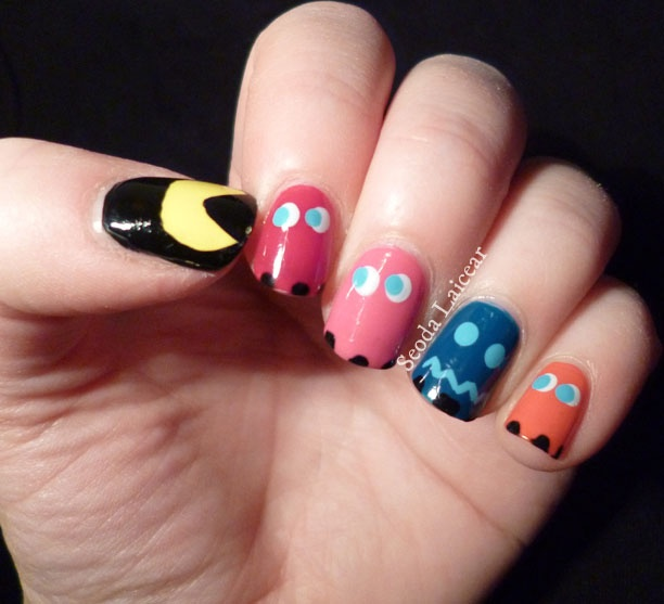 Chocolate Nails Art Game Online Nail Games: Seoda Laicear: Nerdy Nails Issue 2: Pac-Man!