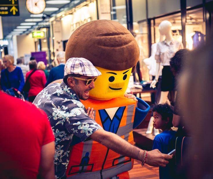 LEGO-selfie at Copenhagen Airport.