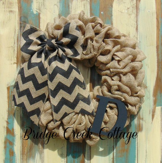 This full burlap wreath is accented with a trendy chevron bow!! Its beautiful & simple! Also its affordable! Can be added to any room or front door for any season!    Reg. price $32 on Sale for $30  THIS LISTING IS FOR AN 18 WREATH. ***SHIPPING*** I have changed shipping prices. Size and weight will factor in price. *If displaying outside it would be best to hang in a covered area to preserve the wreath for many seasons to come. *Thanks for visiting Bridge Creek Cottage and dont forget to...