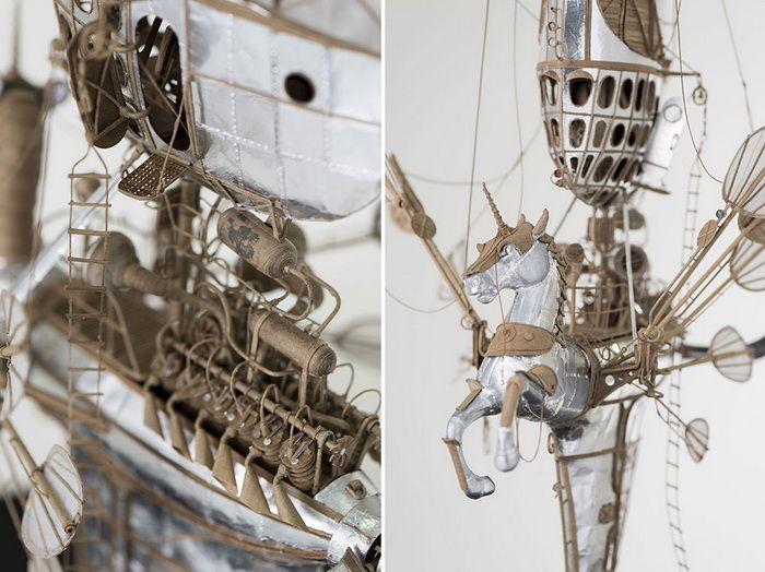 Современное искусство: Картонные дирижабли и аэропланы: стимпанк-модели от голландского дизайнера http://kleinburd.ru/news/sovremennoe-iskusstvo-kartonnye-dirizhabli-i-aeroplany-stimpank-modeli-ot-gollandskogo-dizajnera/