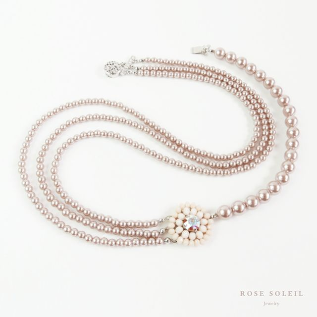 Rose Soleil Jewelry Antique Autumn Collection | ローズソレイユジュエリー ✧ グラスビーズパールネックレス ✧ アンティークオータムコレクション