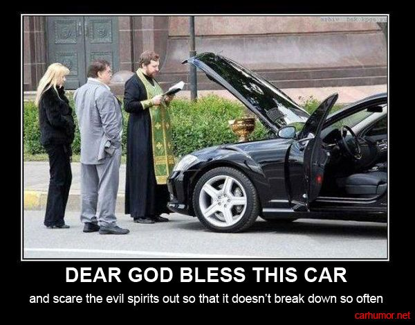Truck driver humor   car-humor-funny-joke-road-drive-driver-god-bless-mercedes-priest