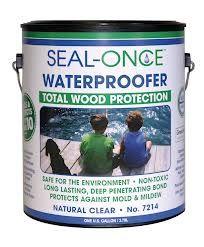 Seal-Once Total Wood Protection Waterproofing Wood Sealer