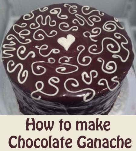 How to make Chocolate Ganache--Super easy--just pour over ...