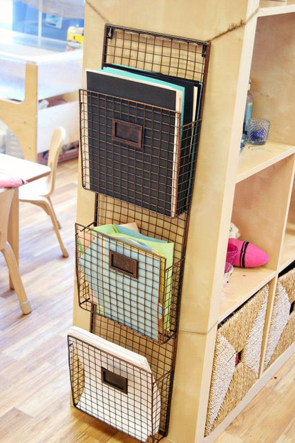 Kelly....something like this would be great to hangup beside your desk. Designate one slot to tax receipts for the year and other slots for bills or things you need to mail out.