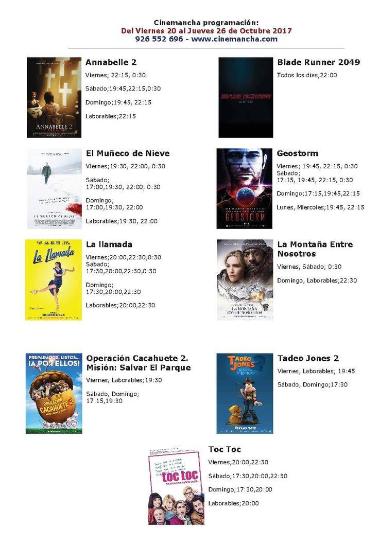 Cartelera Cinemancha del viernes 20 al jueves 26 de octubre - https://herencia.net/2017-10-20-cartelera-cinemancha-del-viernes-20-al-jueves-26-octubre/?utm_source=PN&utm_medium=herencianet+pinterest&utm_campaign=SNAP%2BCartelera+Cinemancha+del+viernes+20+al+jueves+26+de+octubre
