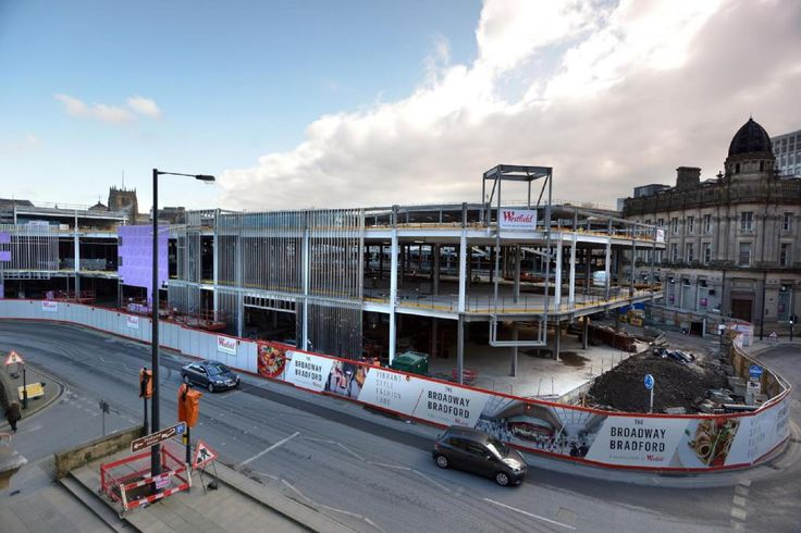 Progress at Bradford Broadway - featuring a Curved Over-sail Facade!
