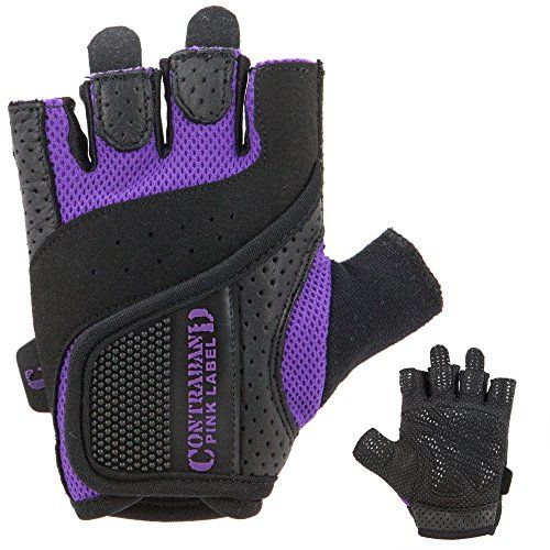 Contraband Pink Label 5137 Womens Weight Lifting Gloves w GripLock Padding PAIR Purple Medium * Details can be found by clicking on the image.