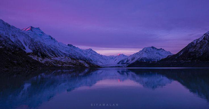 The last light - Tasman Glacier