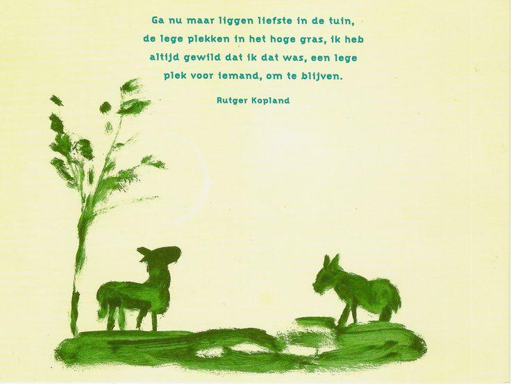 Gedicht:Rutger Kopland. Beeld:Elly Strik.