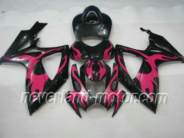 SUZUKI GSX-R 600/750 2006-2007 K6 ABS Fairing - Flame  #07gsxr750fairings #06gsxr750fairings
