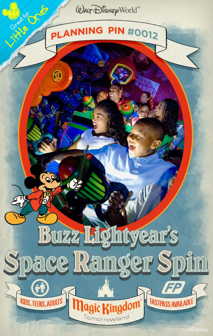 Buzz Lightyear's Space Ranger Spin continues the epic battle between Buzz Lightyear and Evil Emperor Zurg, as seen in the popular Disney•Pixar Toy Story film series