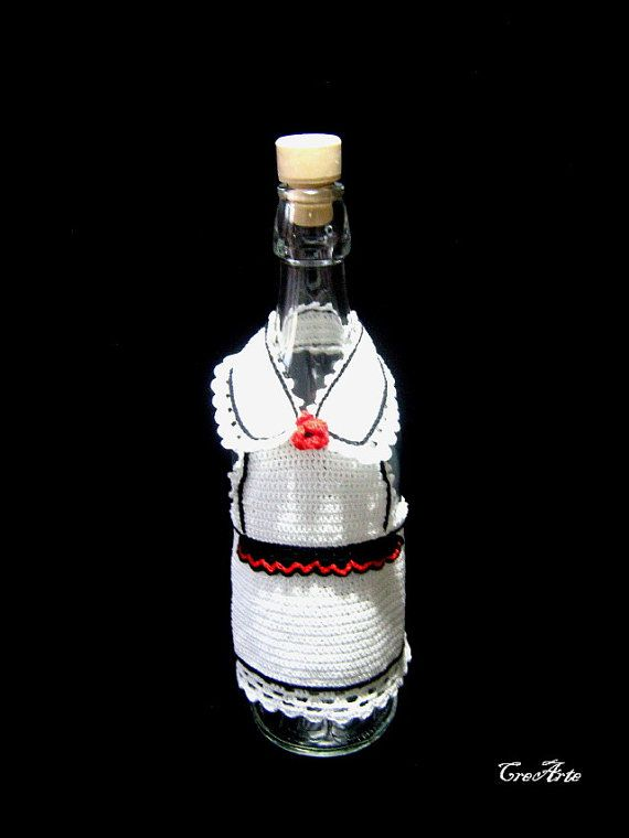 Crochet Cover for wine bottle Cover bottle by CreArtebyPatty
