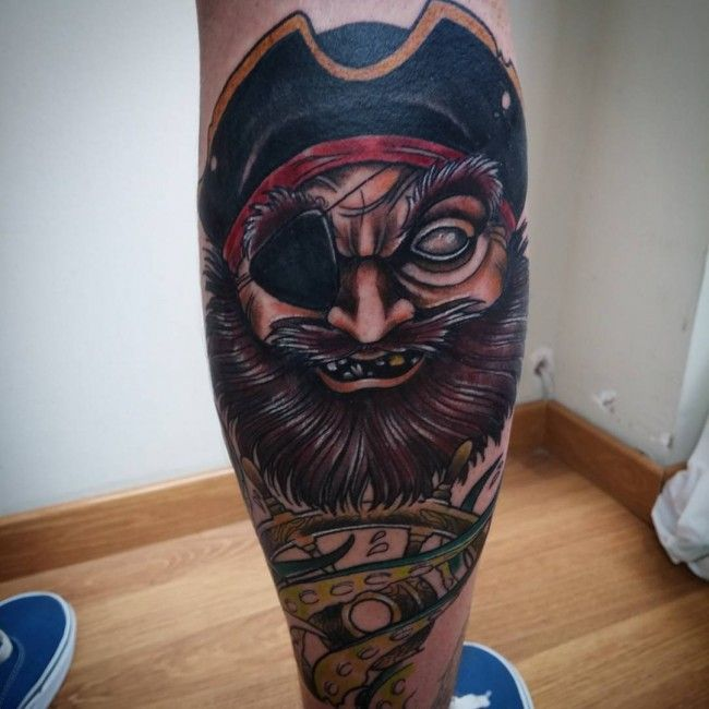Pirate tatouage mollet homme - Tattoo mollet homme ...