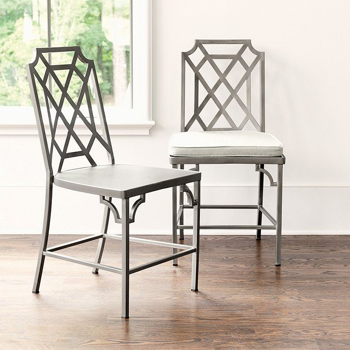 Metal Dining Chairs With Cushion
