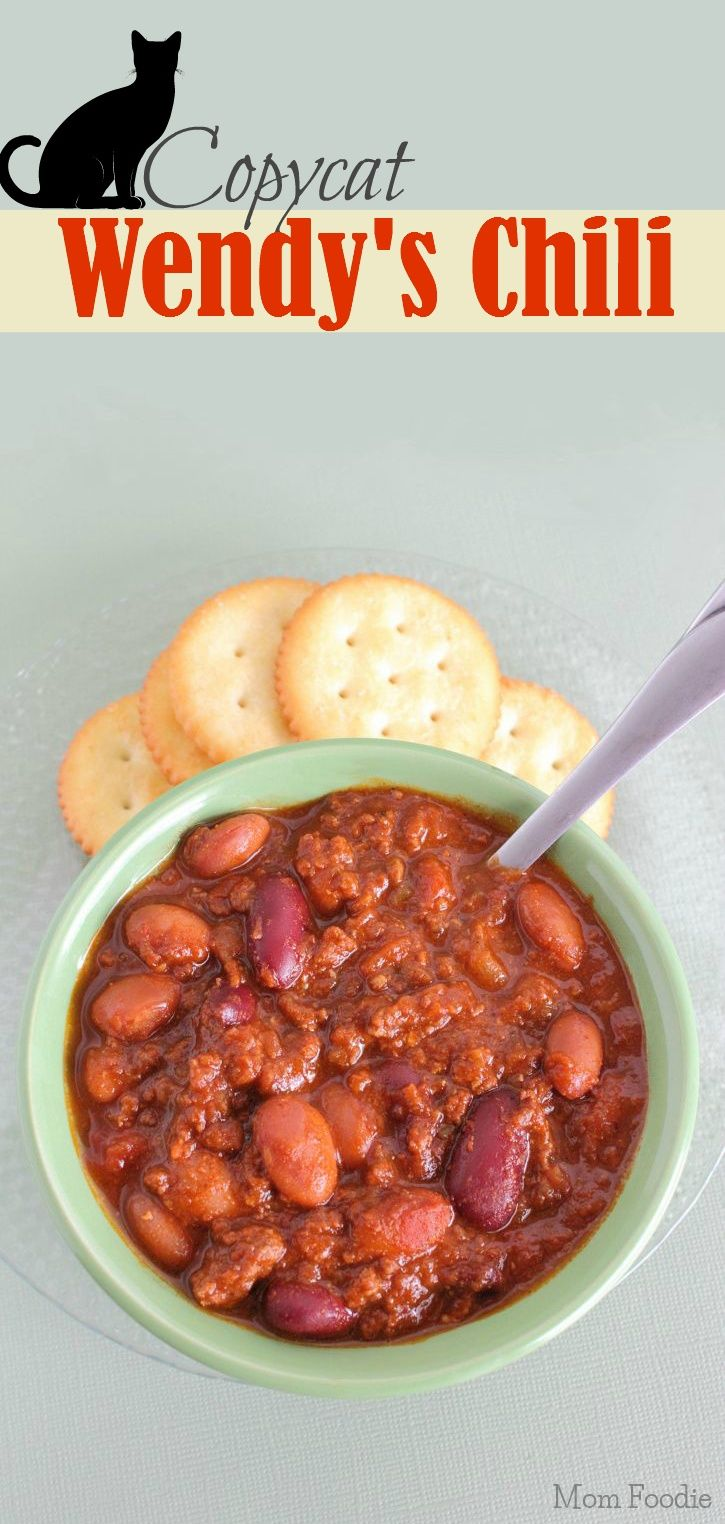 Copycat Wendy's Chili Recipe... make a big ole pot for game day!