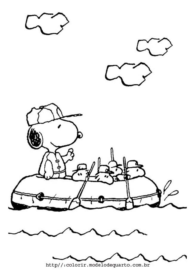 snoopy color pages