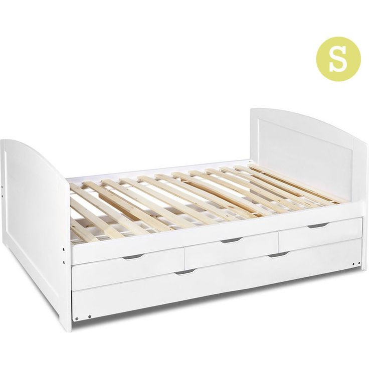 single wooden bed frame w drawers trundle white buy single bed frame