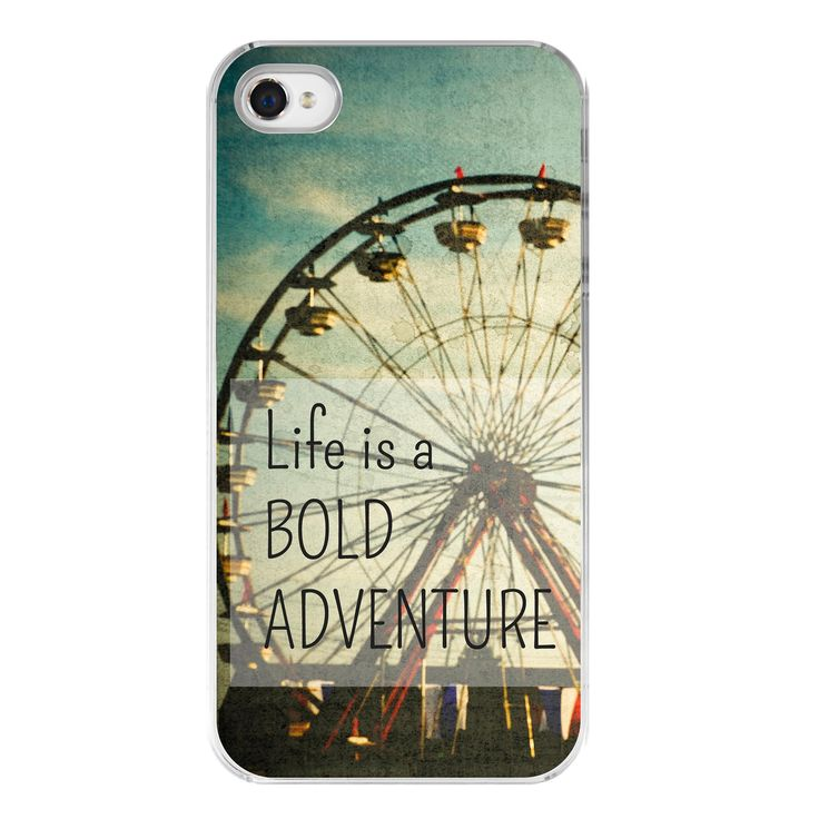 hipster iphone 4s cover . iPhone 4 case . steampunk . carnival photography . typography . cell phone cover .Bold Adventure. $27.00, via Etsy.