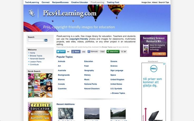 wolne zasoby dla edukacji  Pics for learning  http://pics.tech4learning.com/