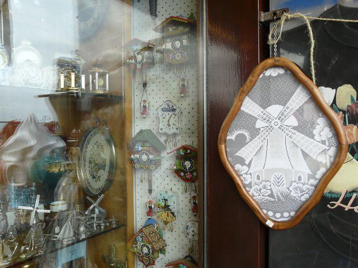 Shop window, Volendam, Netherlands. October 2008