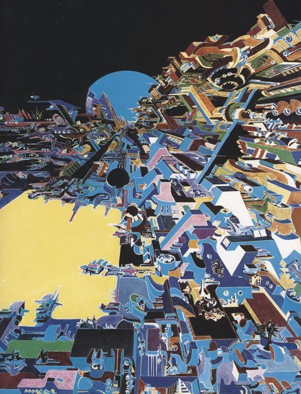 Dipinti di Romano Botti - Città sul Mare Giallo