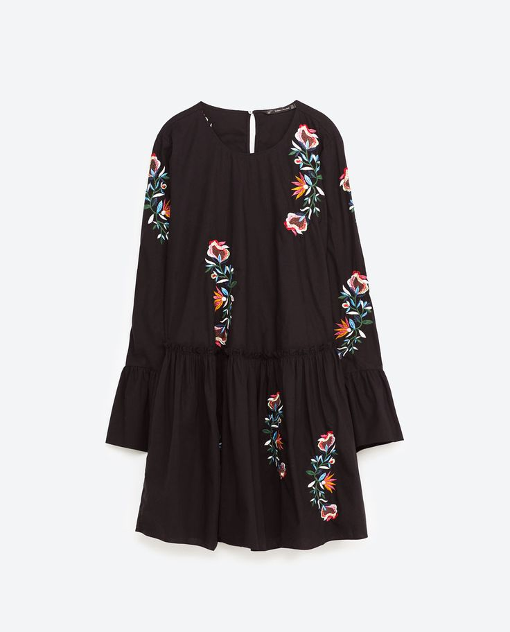 Image 8 of FLORAL EMBROIDERED DRESS from Zara