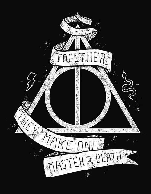 The Deathly Hallows, I have this shirt!! loves it