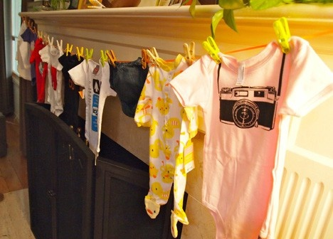 BABY SHOWER: Each guests brings a onesie (that describes herself) and the mom has to guess who it is from. Cute game thats not lame!