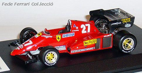 Ferrari 126 C2B F1 Turbo de 1983, con el que Patric Tambay logró la victoria en el GP de San Marino de 1983.  Modelo realizado por IXO a escala 1:43, para la Gazzetta dello Sport en Italia