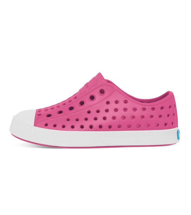 Native Jefferson Kids Hollywood Pink/Shell White, Kids Footwear, www.oishi-m.com