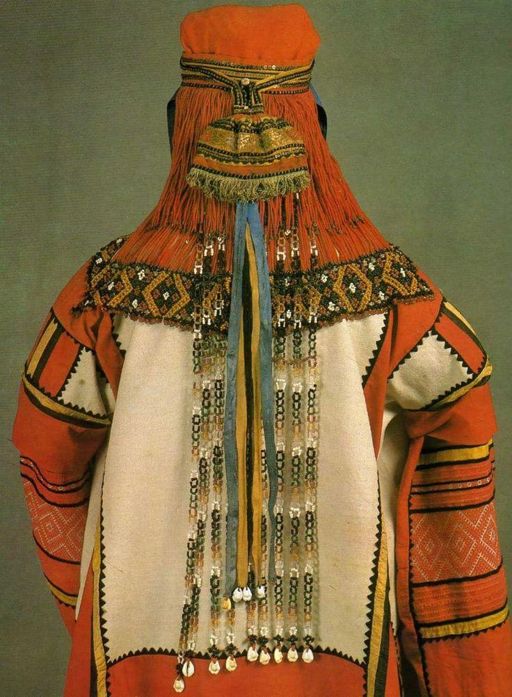 Russian folk costume from Tambov. Вторая половина 19 века, Тамбовская губерния.