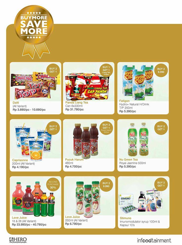 """""""Buy More, Save More Hanya di Hero Supermarket""""  Fresh People, dapatkan berbagai penwaran khusus untuk berbagai produk di Hero Supermarket.  Ayo belanja sekarang juga"""