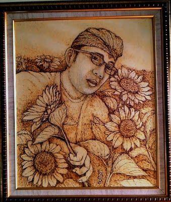 Anjani Gallery: Pirografi Bunga