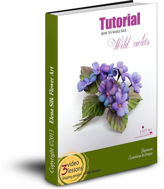 Tutorial silk flower wild violets in somebana technique PDF
