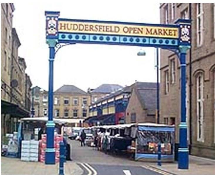 Huddersfield Market entrance