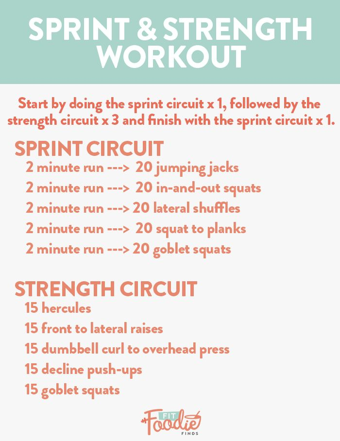 Combine two minute treadmill sprints with a strength training circuit for the ultimate full body sprint and strength workou