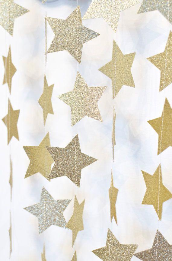 Gold Twinkle Twinkle Little Star Paper by DesignElementsByErin                                                                                                                                                     Más