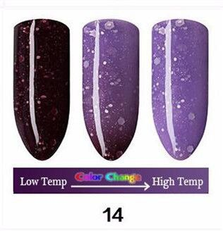 Nail Polish Temperature Change Nail Color UV Gel for Nail Soak Off Gel