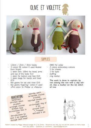 Olive et Violette pattern - english version