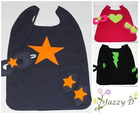 Super Hero Set Girls & Boys Super Hero Sets which Includes - Cape, Mask & Cuffs