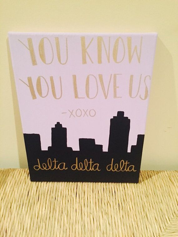 Gossip Girl Inspired Sorority Canvas by SratCrafts1 on Etsy
